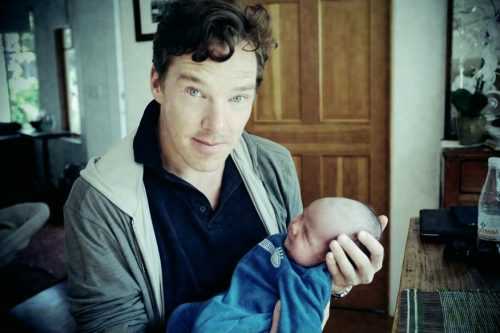 Cumberbatch and son